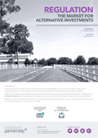 Regulation and the Market for Alternative Investments