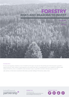 Forestry: Risks and Reasons to Invest